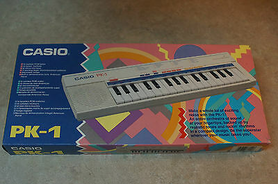 Vintage Casio PK-1 Keyboard With Box