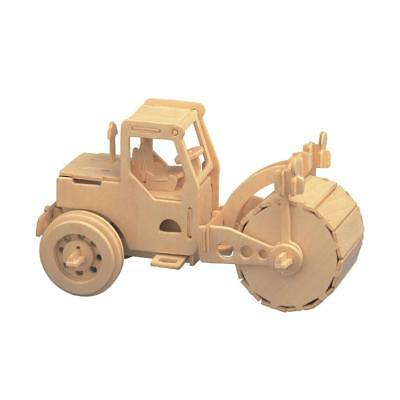 diy 3d woodcraft construction kit wooden road roller model puzzles kids gift
