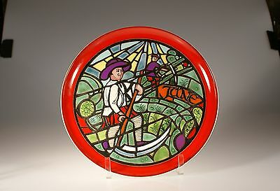"Poole Pottery Medieval Calendar Series Plate ""June"", England issued in 1974"