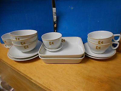 Vintage Cp Air Canadian Pacific Airlines 15 Piece Dish Set - Cups,saucers,bowls