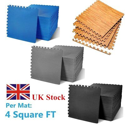 96-384Sq Ft Interlocking Eva Foam Mats Tiles Gym Play Garage Workshop Floor Mat