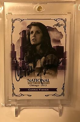 Carrie Fisher Leaf Autograph Auto Star Wars Princess Leia Card N-CF1