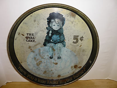 Fairy Soap Metal Serving Tray Vintage Cheinco The Oval Cake Advertising Antique