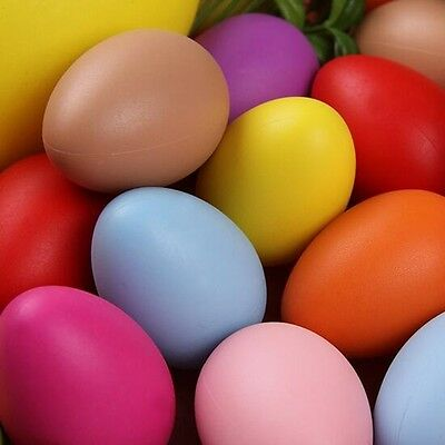 20Pcs Simulation Colorful Plastic Easter Eggs Bright Plastic Egg Decorations DIY