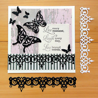 "Couture Creations Cleo Border ""on The Edge"" Elegant Cutting Die - Bnip"
