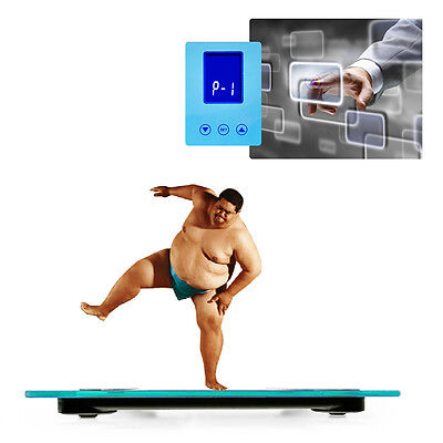 Blue Color 180KG Digital Electronic Body Fat Bathroom Weight Scales Muscle Water