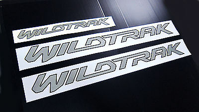Wildtrak Silver Sticker Set Lh Rh Door Rear Ford Ranger Px Xlt T6 2012 2013 2014