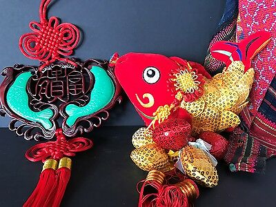 Chinese Good Luck Fish Wall Hangings X 2 …Chinese good luck charms