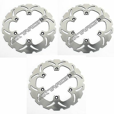 Full Set Brake Disc Rotor fit Yamaha XP500 TMAX XJ600 FZ FZX 750 Fazer RD350