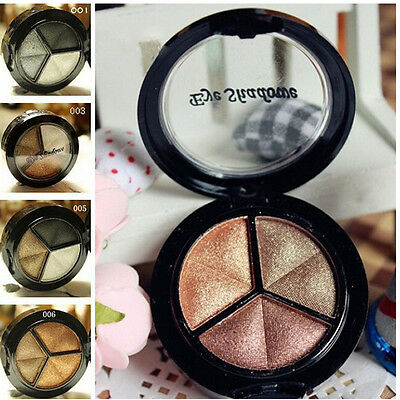 3 Colors Eyeshadow Natural Smoky Cosmetic Eye Shadow Palette Set Make Up s