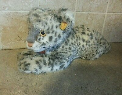 "Steiff Snobby Baby Snow Leopard Schneeleopard 15"" With Tags 065804"