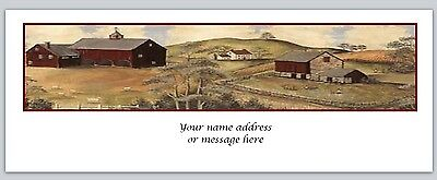30 Personalized Return Address Labels Primitive Country Buy 3 get 1 free (c760)