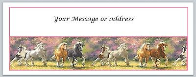 30 Personalized Horses Return Address Labels Buy 3 get 1 free (bo172)