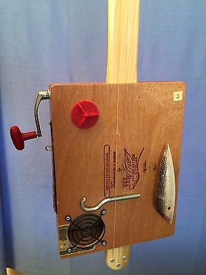 Cigar Box Guitar Sportsman - Acoustic Electric  Hooked on Fishing   #140