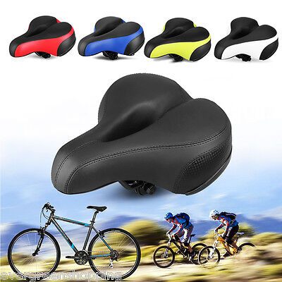 Road Mountain MTB Bike Wide Bum Saddle Thicken Cushion Pad Seat Bicycle Cycling