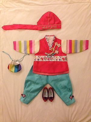 Used Korean traditional Clothes (Hanbok) For Boy Toddler Ages 1-3 Years