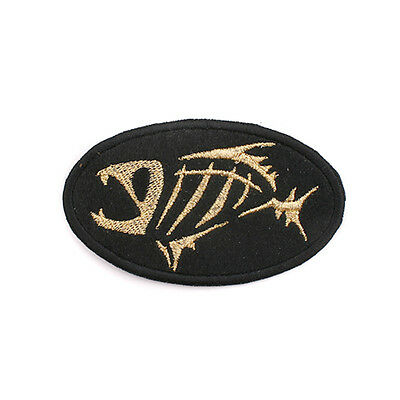 New Fishing G Logo Round Patch Emblem Clothes Cap Badge 8cm #J1