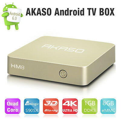 HM8 Smart OTT TV Box 4K Android 6.0 Amlogic S905X 64-bits Quad Core 1G+8G WIFI