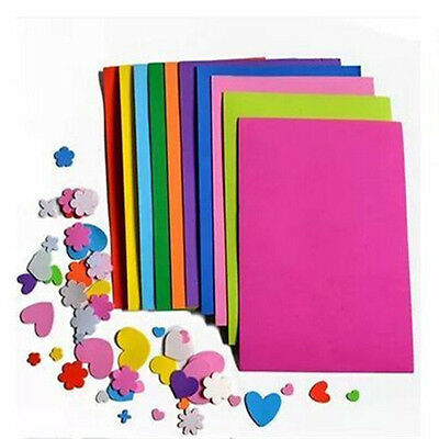 10Pcs Thick Multicolor A4 Sponge EVA Foam Paper Sheets Kids Handmade DIY Craft