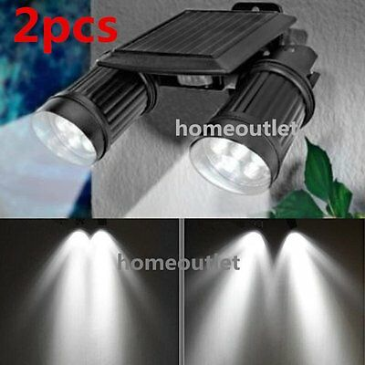 14 LED Solar Power Dual Head PIR Motion Sensor Security Lamp Spot Light Garden
