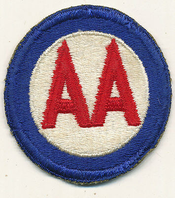 Anti Aircaft Command patch real WWII make US Army