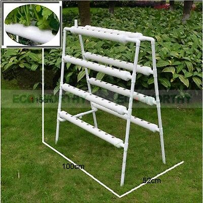 Hydroponic Site Grow Kit 72 Holes Ebb and Flow Deep Water Ladder Garden System
