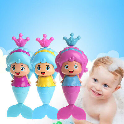 Baby Kids Mermaid Clockwork Dabbling Bath Toy Classic Swimming Water Wind Up Toy