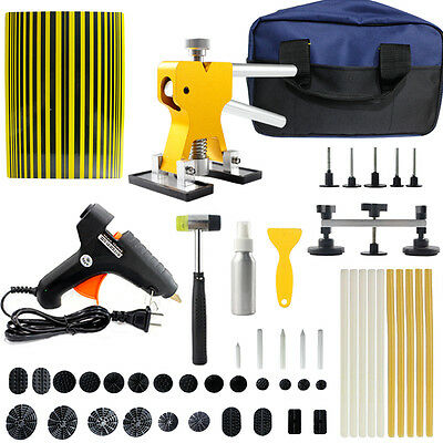 PDR Paintless Dent Repair Puller Lifter Hammer Hail Removal Line Board Tools Kit