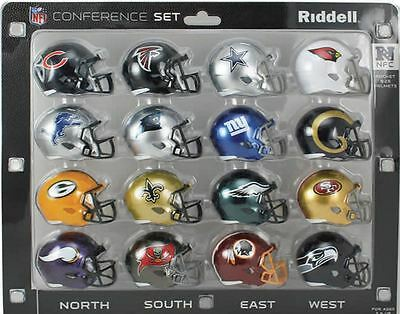 NFL American Football Riddell SPEED Pocket Pro Helmets NFC Set
