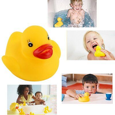 Lots Yellow Baby Children Bath Toys Cute Rubber Squeaky Duck Ducky 1/10/20Pcs DF