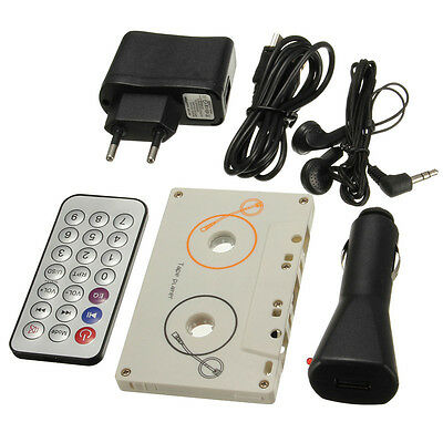 Kit Car Tape Cassette Sd Mmc Mp3 Player Adapter Remote Control Stereo Eu Cd New