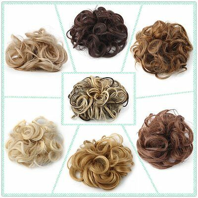 New Women's Curly Messy Bun Hair Twirl Piece Wigs Extensions Hairdressing DF
