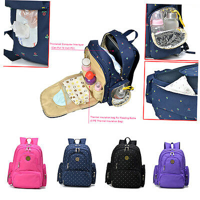 New Mummy Backpack Baby Nappy Diaper Bag Light Changing Bags Backpack DF