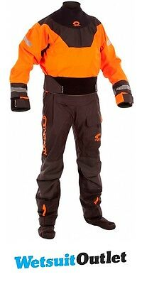 2017 Typhoon Multisport Hinge Drysuit + Con Zip Orange / Black Inc FLEECE 100152