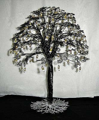 Large Black Twisted Wire Tree Sculpture