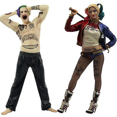 """13"""" Crazy Toy Suicide Squad Harley Quinn&Joker Action Figure Colletible Statue"""