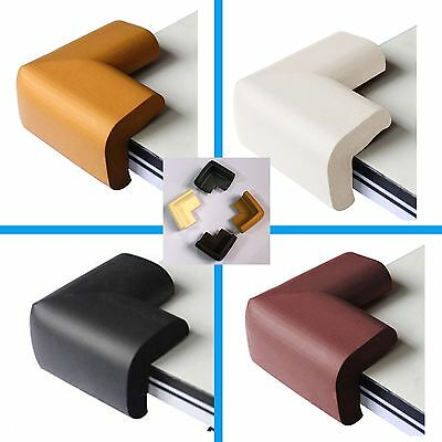 4x Safety Child Corner Edge Cushion Desk Table Cover Protector Pads Soft Baby