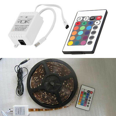 New Mini 24Key IR Remote Controller Wireless For 3528 5050 RGB LED Strip DF