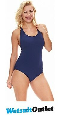 2017 Zoggs Ladies Cottesloe Flyback Swimsuit Navy 1128425