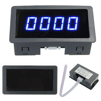 4 Digital LED Blue Tachometer RPM Speed Meter + Hall Proximity Switch Sensor NPN