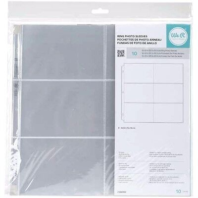 We R Memory Keepers RING PHOTO SLEEVES 12 x 12 inch, 4 x 6 inch Packets  660152D