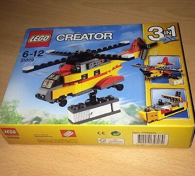 LEGO Creator 3 in 1 - Cargo Plane Helicopter Age 6-12 132 Pieces 31029 BNISB