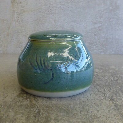 Handcrafted Pottery Trinket Bowl and Lid Australian? see photo of potters mark
