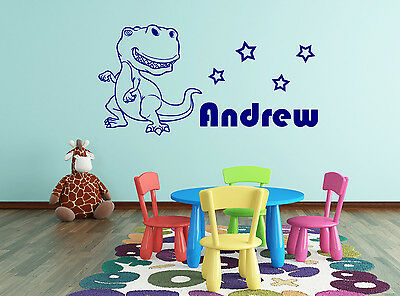 Personalised Big Dino Bedroom Wall Sticker Decal Graphic Removable Decor Vinyl