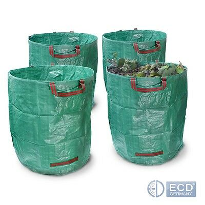 GARDEN WATE BAGS SET OF 4 PIECES HEAVY DUTY RECYCLING BAG 67x76 cm 270L REUSABLE