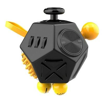 Cube Fidget Stress Relief Anxiety Toy Gift Adults Focus Kids New Desk Black Toys
