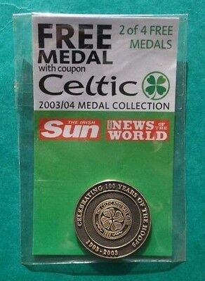 Celebrating 100 Years Of The Hoops Celtic 2003/04 Medal Collection