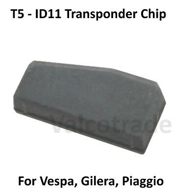 Vespa Piaggio Gilera Transponder ID11 T5 Immobilizer Key Chip. GTS, Runner etc