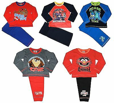 Boys Muppets Taz Pyjamas Monsters Inc 12 Months to 10 Years