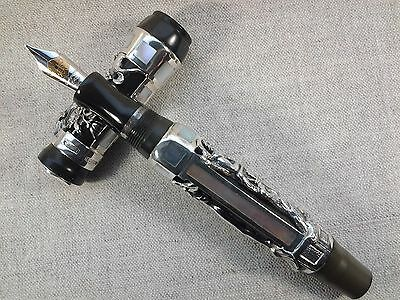 Montegrappa Aphrodite BLACK AND SILVER FOUNTAIN PEN No. 461/1912